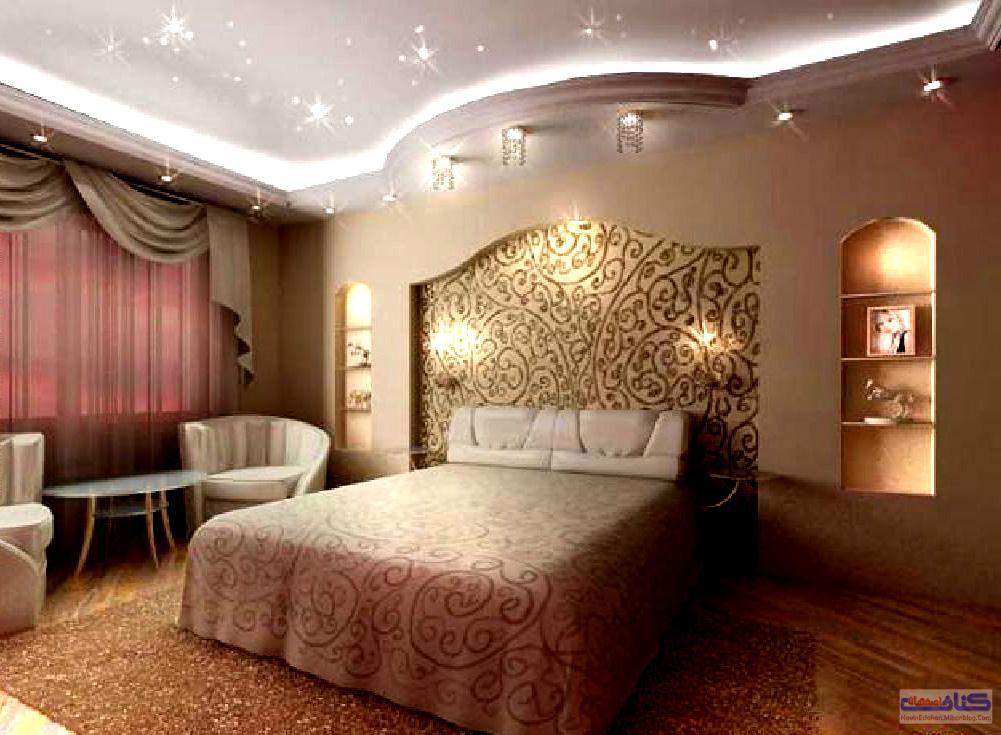 Отделка спальни гипсокартоном фото