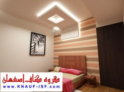 کناف کاری سقف اتاق خواب -